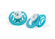 Pur Ventilated Symmetric Silicone Soother : 6 Months+ (14044)(Assorted Color:Blue/Orange )
