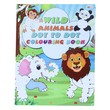 Wild Animals Dot To Dot Colouring Book