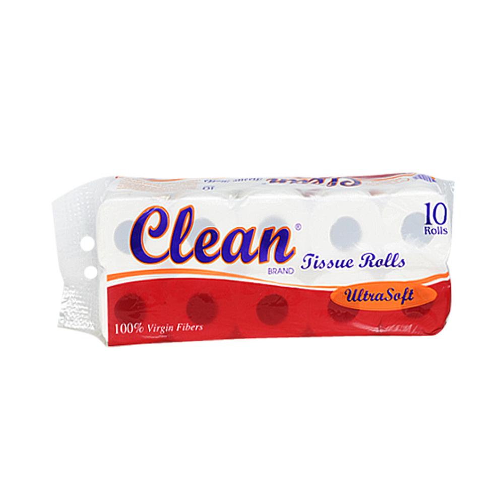 Clean Bathroom Tissue 10Rolls 2Ply