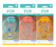 Pur Shaped Bottle With Handle 9 Oz/ 250Ml (9014)(Assorted Color: Green/Orange/Pink)