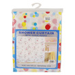 Shower Curtain Plastic & Fabric Assorted (Thin)